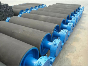 Belt Conveyor Rubber Coated Steel Drum Head Pulleys