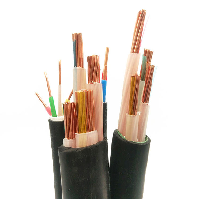 Flexible Low Voltage Copper Conductor 4 Core 50 Sq Mm YJV-0.6/1KV 4×50 Power Cable